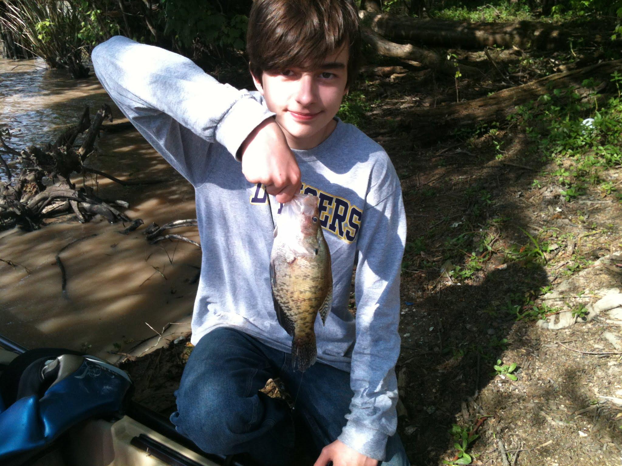 Luke's First Fish